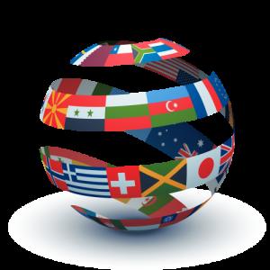 Bola mundo banderas 2